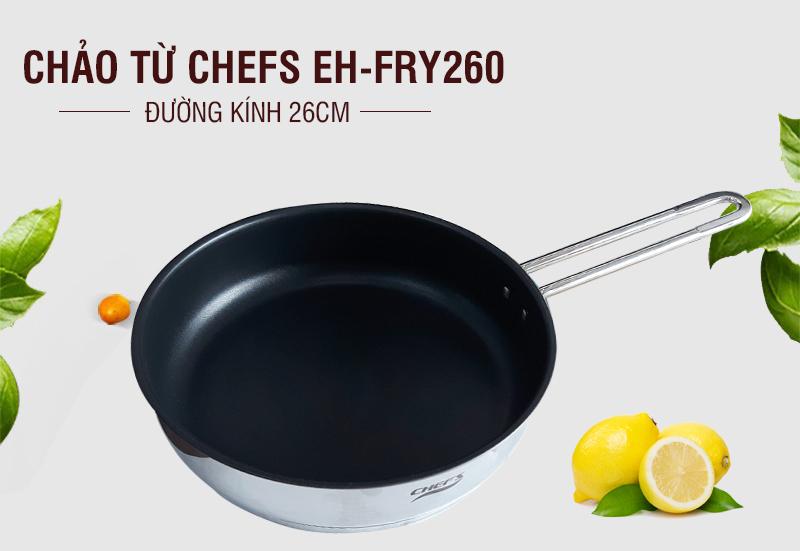 chảo chống dính Chefs đa dạng nhiều kích thước khác nhau như 20cm, 24cm, 28cm