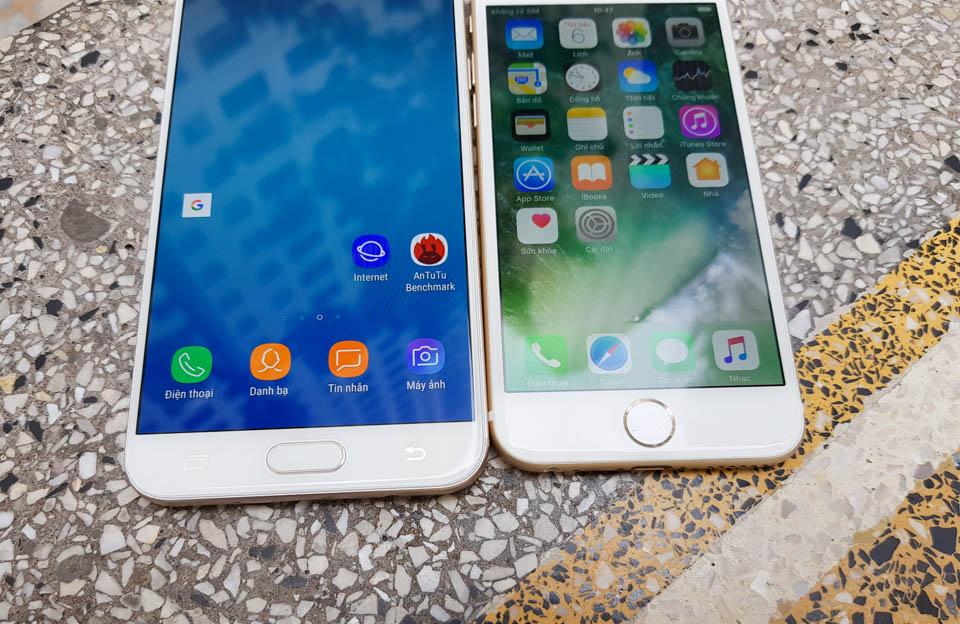 Chọn smartphone chính hãng giá 8 triệu đồng: Samsung Galaxy J7+ vs iPhone 6 32GB