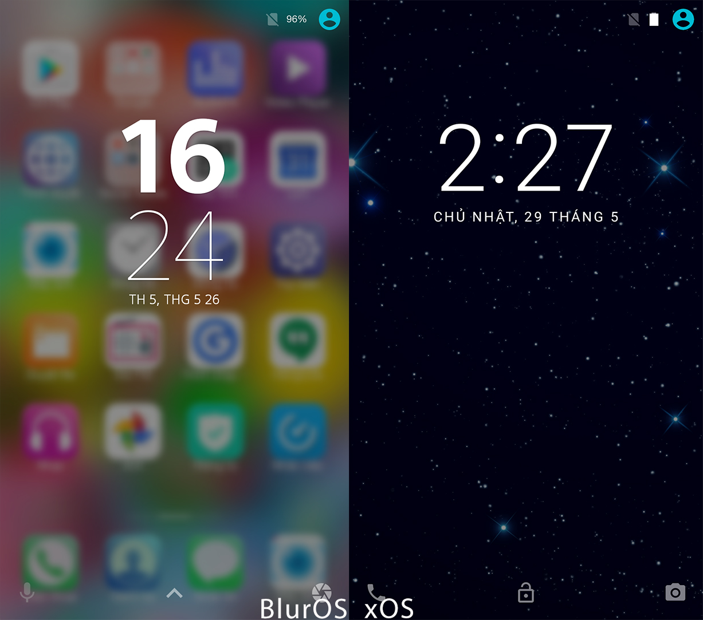 """So sánh giao diện BlurOS vs xOS: """"ý tưởng lớn gặp nhau"""""""