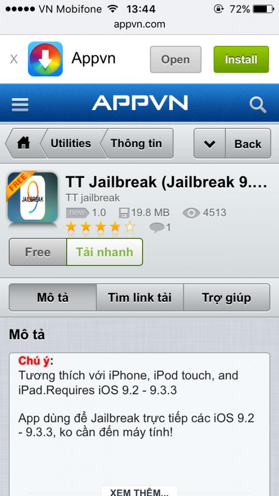 Đã có cách Jailbreak iOS 9.2 – 9.3 không cần máy tính