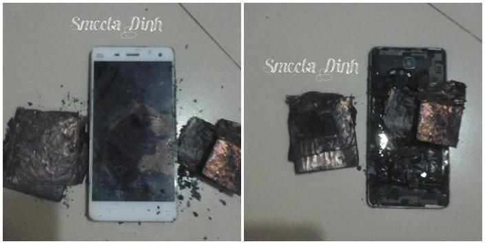 Xiaomi Mi4 nổ trong túi quần khách hàng tại Việt Nam