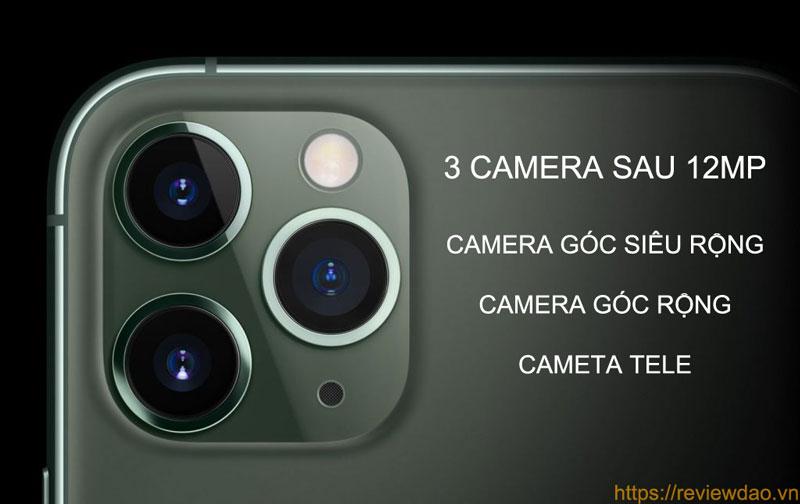 Cụm 3 camera trên iPhone 11 Pro / Pro Max đều hỗ trợ quay 4K 60fps.