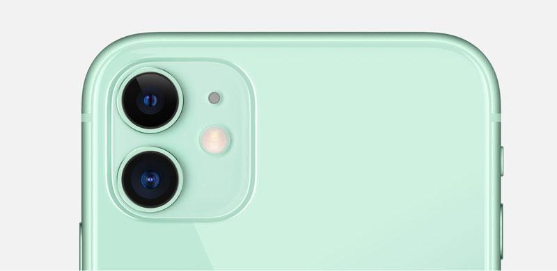 iPhone 11 được Apple trang bị cụm camera kép bao gồm cảm biến góc rộng có độ phân giải 12 megapixel