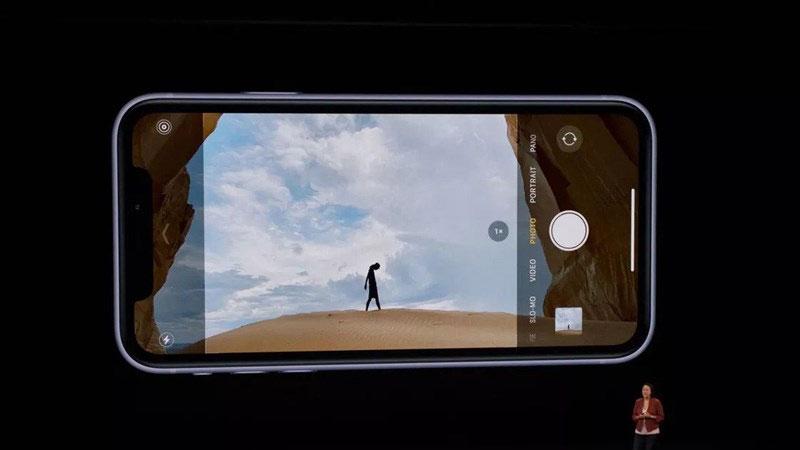camera selfie của máy cũng đã được nhà táo ưu ái nâng độ phân giải lên thành 12 megapixel