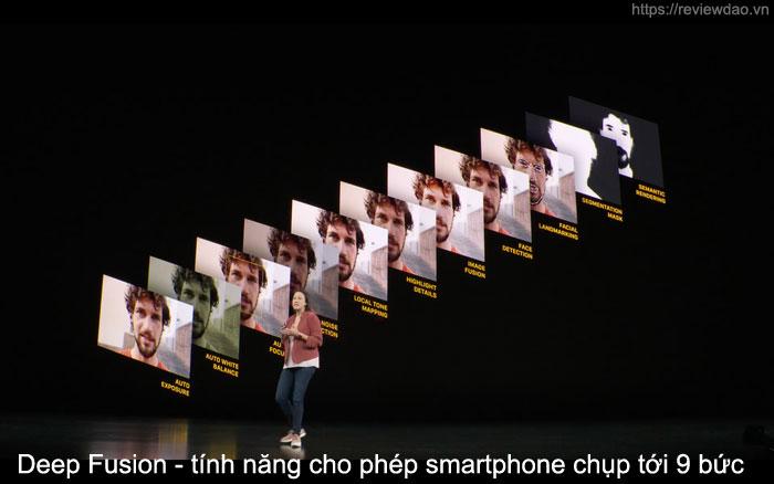 Deep Fusion - tính năng cho phép smartphone chụp tới 9 bức ảnh