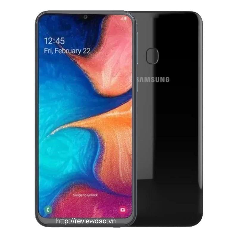Samsung Galaxy A20 có thiết kế màn hình 6.4 inch, áp dụng công nghệ Amoled chuẩn HD, hỗ trợ 16 triệu màu. Bộ camera kép sau 13+5 Mp, camera trước 8Mp