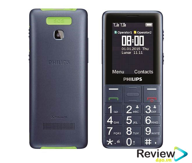 Điện thoại Philips Xenium E311 Philips Xenium E311 với thiết kế nhỏ gọn, là dòng máy cơ bản dành cho người lớn tuổi với những tính năng phù hợp với nhu cầu.