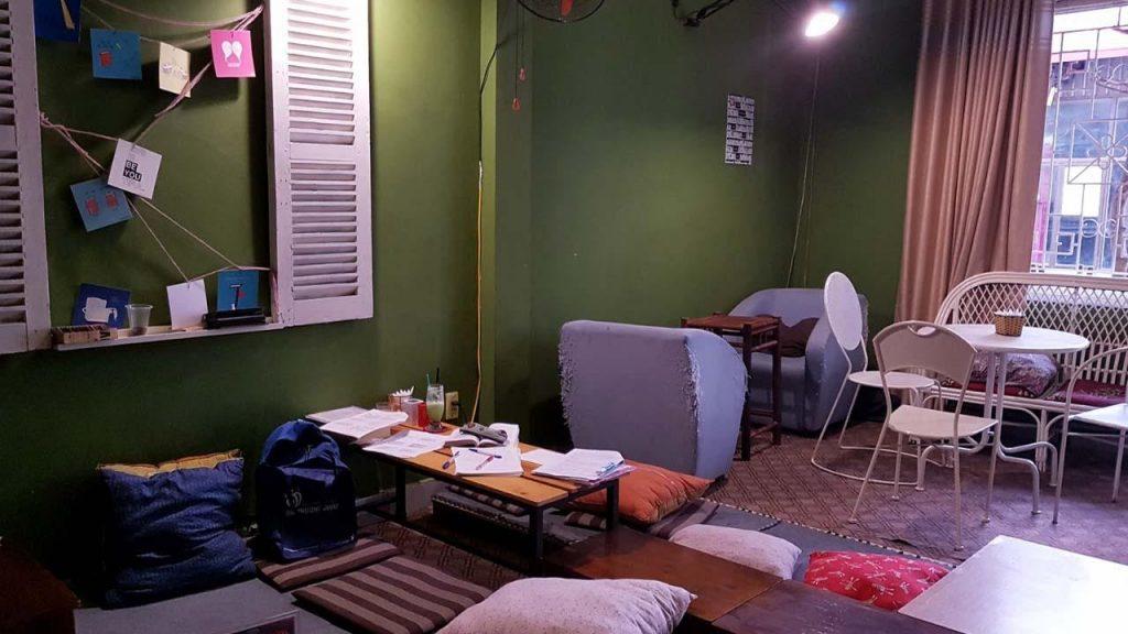 Bookn' Coffee là địa điểm lý tưởng để tổ chức các buổi học nhóm, họp câu lạc bộ.