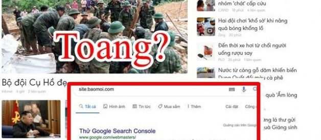 Lý do trang baomoi.com mất index trên Google